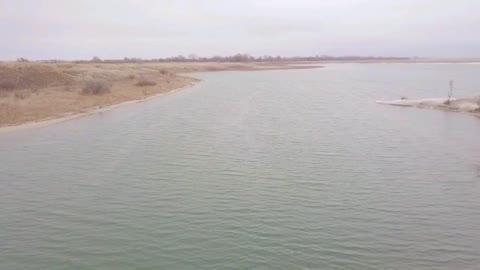 Drone around the pond