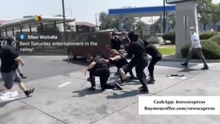 American Patriots and Antifa get into a brawl