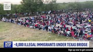 8,000 Illegal Immigrants Under Texas Bridge; AUKUS Nuclear Sub Agreement Marks Power Shift | NTD
