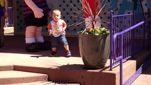 Toddler is the only one having fun