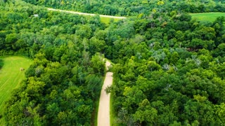 How beautiful nature A Road Built Through Plantation And Forest
