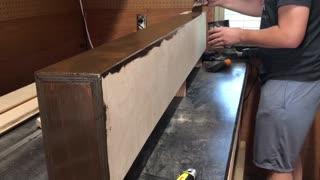 Staining some floating shelves (4K) - Part 1