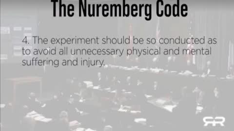 COVID INJECTIONS VIOLATE NUREMBERG CODE
