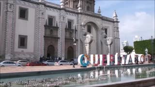 Queretaro, Mexico - Tourist Site with City's Name in HUGE Letters