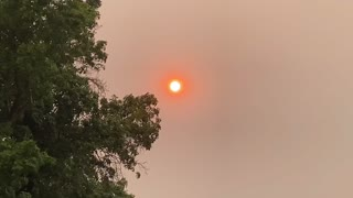 Fire Skies in Sacramento can be seen in the Central Valley