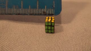 Man holds world record for creating smallest Rubik's cube ever
