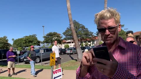 Long Lines in the Recall for Gavin Newsom Sept. 14, 2021 Southern Ca
