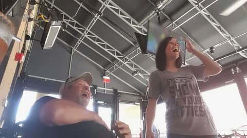 Loving Daughter Surprises Unsuspecting Dad For His Birthday