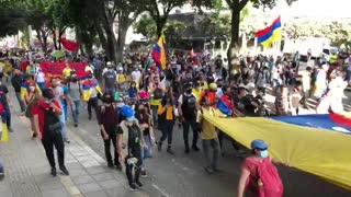 avanza protesta en Bucaramanga 20 de julio