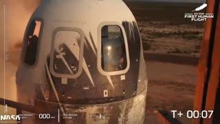 Jeff Bezos goes into space.