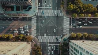 Traffic footage drone