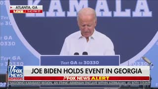 "Joe Biden quips ""I'm Kamalas running mate, you all think I'm kidding don't you?"""