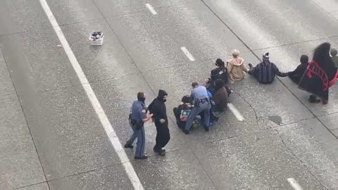 BLM block the freeway in Seattle