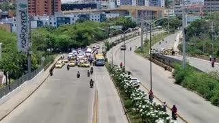 Paro de buses y taxis | Bucaramanga - Floridablanca