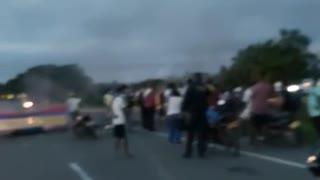 Protestan en Bayunca por falta de alcantarillado