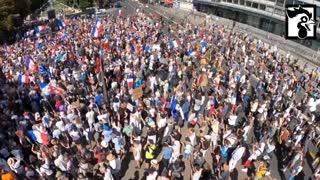 Aug 14, 2021: Paris Vaccine Passport Protest