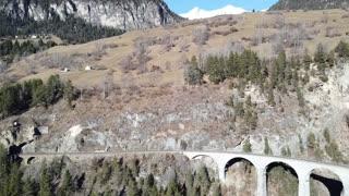 Drone flight near Landwasser viaduct