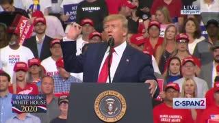 President Donald Trump blasts the Democratic Party