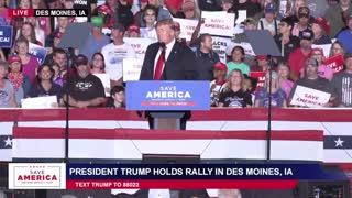 President Donald J Trump in Des Moines, IA