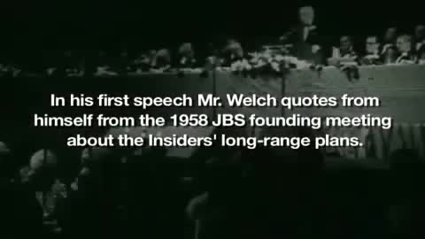 Damn! Robert Welch (John Birch Society) called it in 1958!!!