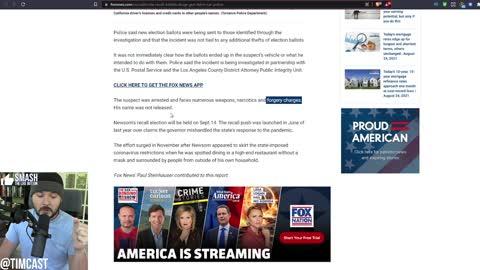 Felon CAUGHT With Hundreds Of CA Recall Ballots, Democrats PANIC As Larry Elder May Win Governorship
