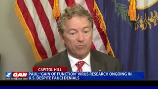 Sen. Paul: Gain of function virus research ongoing in U.S. despite Fauci denials