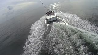 Parasailing Takeoff POV See From Above