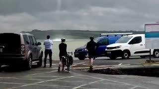 Waterspout Spotted While Waiting for Ferry