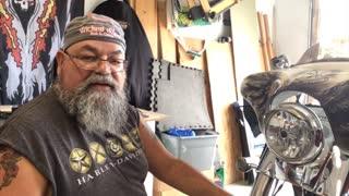 Harley Freewheeler Halo Headlight Install