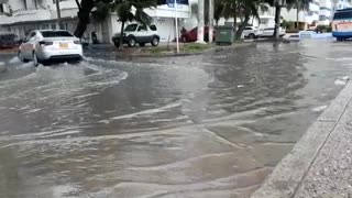Calles estancadas en Cartagena