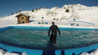 Epic Snowboard Water Slide Crash