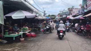 Market in Vietnam on Phuquoc island