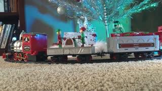 Christmas Train, color wheel, vintage tree - 2020