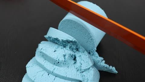 Satisfying ASMR: Compilation of kinetic sand cutting