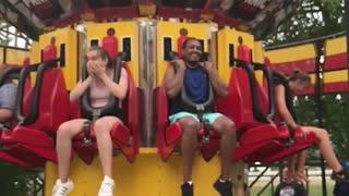 Theme park ride slow motion