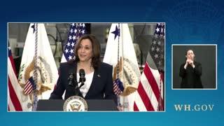 VP Harris Joke Flops During Speech