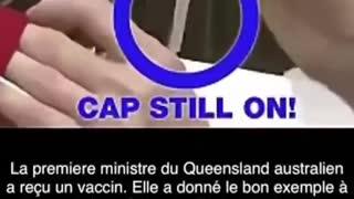 Fake Corrupt Politicians taking empty vaccine