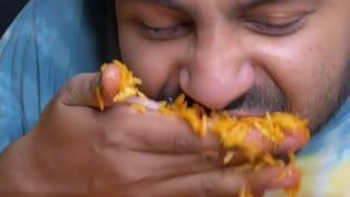 Chicken Biryani Eating Challenge #shorts #rumble