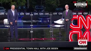 Biden and Cooper ignore social distancing when cameras are off