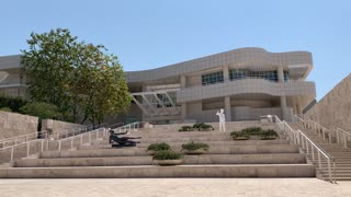 Getty Center 2020 - Museum Entrance - Video background (HD)