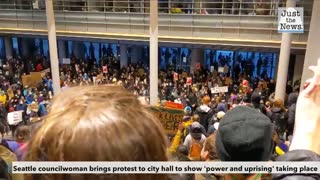 Seattle councilwoman brings protest to city hall