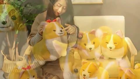 Corgis in a Row Stuffed Animal Plush Toys (Small to Giant Size)