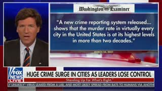 Tucker Carlson Discusses The Rise In America's Violent Crime