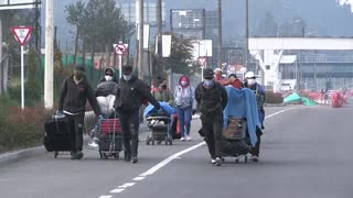 Migrantes venezolanos dejan Bogotá ante la pandemia del coronavirus