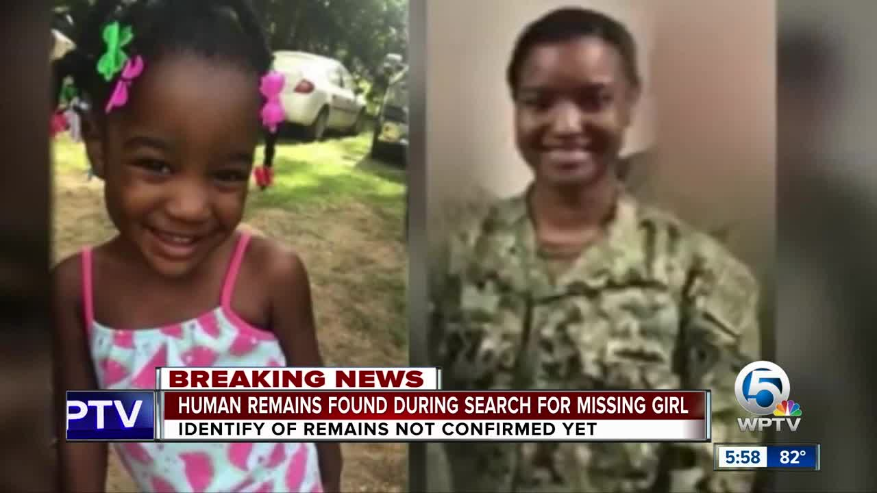 Human remains found during search for missing girl; mother arrested