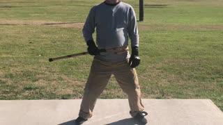 Block strike drill cane self defense