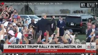 MDL 26 Juin 2021 Rally Ohio Arrivée de Donald Trump