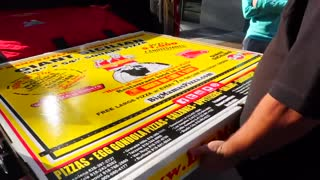 EATING THE WORLD'S LARGEST PIZZA