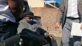 Archbishop Emeritus Desmond Tutu get his Covid-19 vaccine