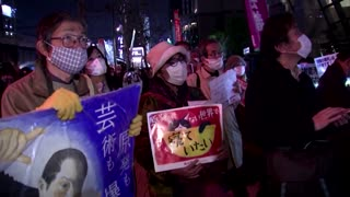Anti-nuclear protest on Fukushima anniversary